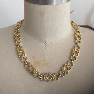 Vintage gold costume link necklace.